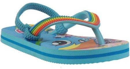 6d9609b46f81 My Little Pony Toddlers Rainbow Dash Baby Blue Flip Flop Slipper For ...