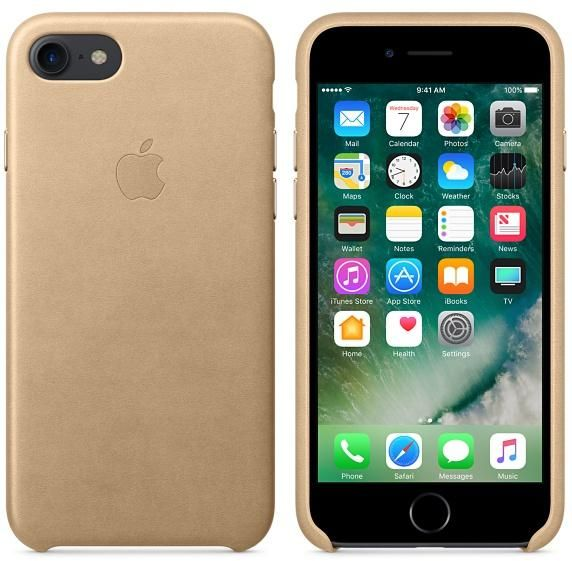 sports shoes 8895e 27f2b Apple iPhone 7 leather back cover case - Tan Price in Egypt | Souq ...