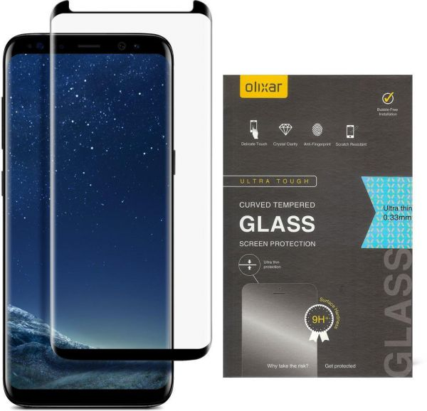 promo code b41f5 bce41 Olixar Samsung Galaxy S8 EasyFit Case Compatible Tempered Glass Screen  Protector