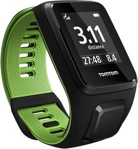 tomtom runner 3 music with headphone fitness watch blackgreen large - Watch Black Christmas