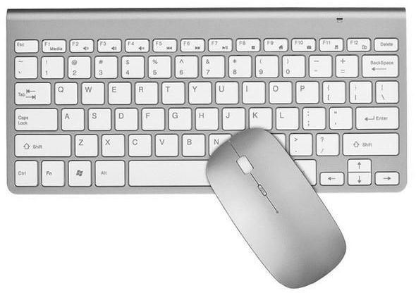 060e9517b9a 2.4G Wireless Keyboard Mouse Combo Set For Apple  MAC/Windows/IOS/Android-Silver