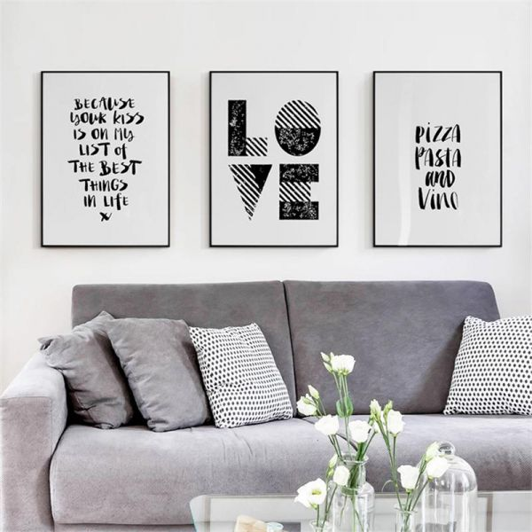 Wall Frames Quotes Home Decor 60 X 40cm 3 Pieces Set Souq Uae