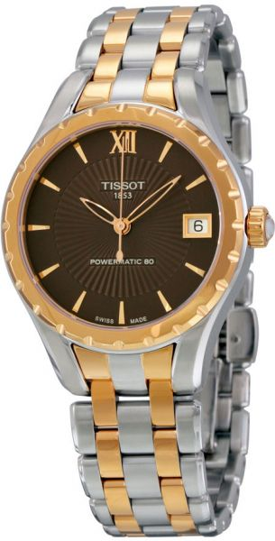 Tissot Lady 80 Automatic Women's Brown Dial Stainless Steel Band Watch - T072.207.22.298.00