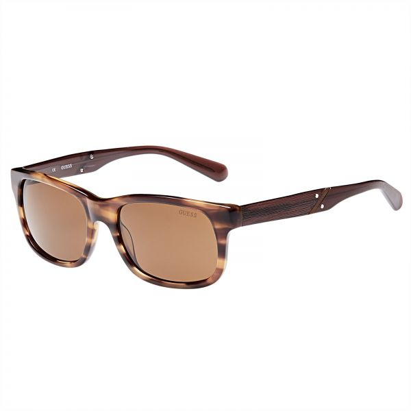 31024e260b Guess Rectangle Men s Sunglasses - GU6809-55E13 - 55-18-140 mm
