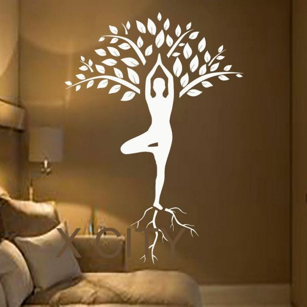 yoga wall decals, home decor, waterproof wall stickers | souq - uae