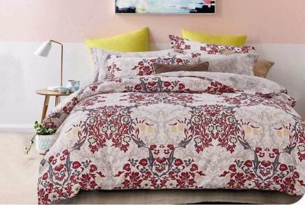 6 Pieces King Sizes Duvet Cover Cotton Bedding Set With Fitted Sheet