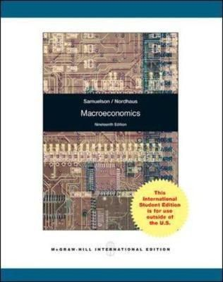 Nordhaus Dk macroeconomics international edition by by paul a samuelson