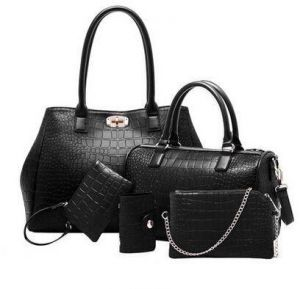 a5a49bee91c3 MY2 Multi-Function Five -Pieces Set Tote Bag for Women - Black