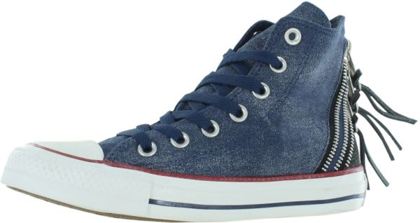 4bf290058c18 Converse Chuck Taylor All Star Tri Zip Sparkle Fashion Sneakers for Women
