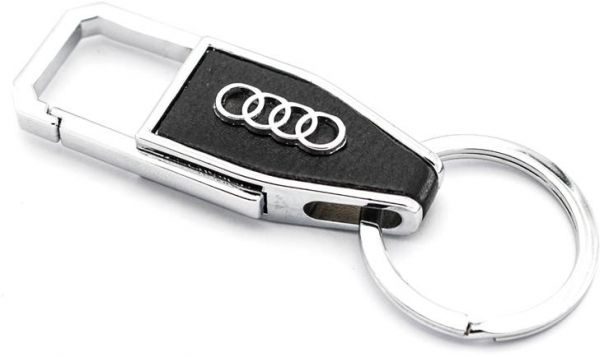 Auto Car Keychain Black Leather Business Key Chain For Key Fob And