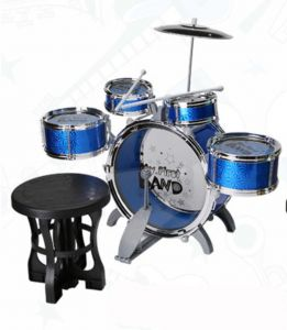 children 39 s kid 39 s jazz drum set musical instrument toy playset with 3 drums cymbal stand. Black Bedroom Furniture Sets. Home Design Ideas
