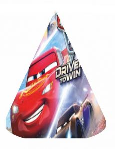 Cars 3 Birthday Party Hats 6pcs Supplies Items Kids Decor Baby Shower Girl Boy