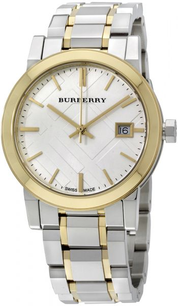 Buy burberry women 39 s silver dial stainless steel band watch bu9115 watches uae souq for Burberry watches