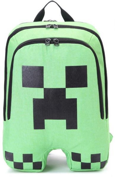 Minecraft Backpack Creeper School Backpack bags Mochilas Green ... d6454de33e8eb