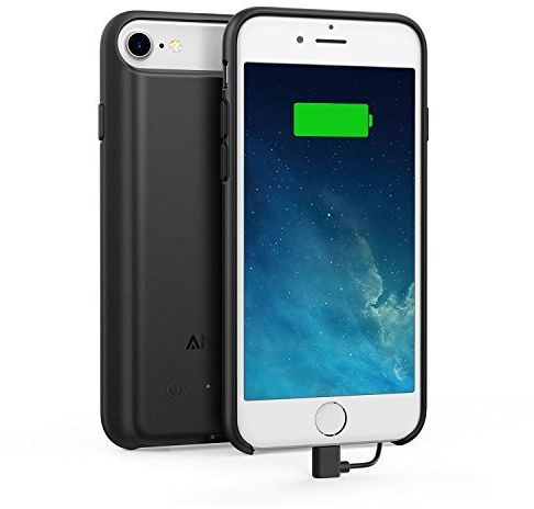 various colors d51a3 d5985 Anker PowerCore Battery Case for iPhone 7 and iPhone 8 , 2200mAh - Black