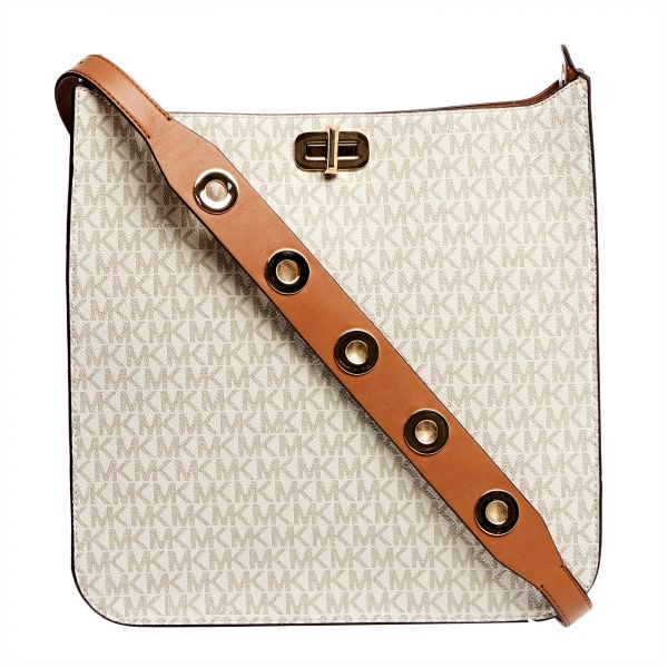 e1e1d32d18fc90 Michael Kors Sullivan Monogram Crossbody Bag for Women - Vanilla ...
