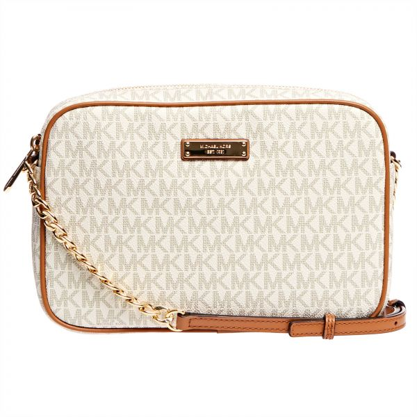 eb34d95b46636 Michael Kors Jet Set Monogram Crossbody Bag for Women - Vanilla ...