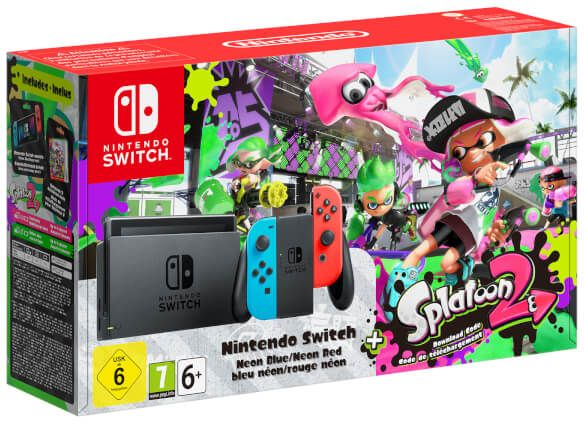 33580ed97b54 Nintendo Switch With Neon Blue   Neon Red Joy-Con Controllers + ...