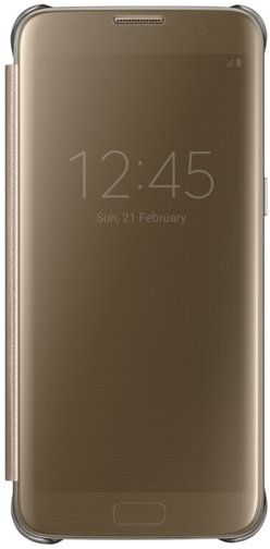 brand new f5947 429f6 Samsung Galaxy S7 Edge Clear View Cover - Gold