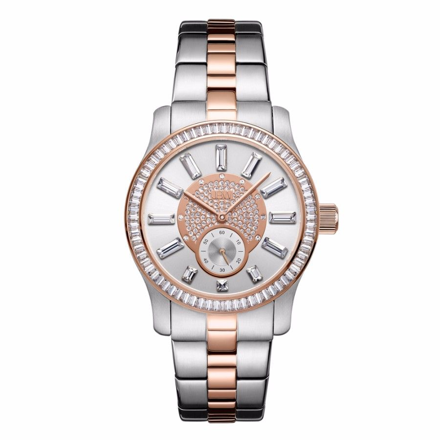 JBW Celine Women's Two-Tone Dial Two-Tone Stainless Steel Band Watch