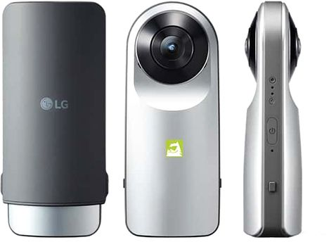 LG R105 - 16 MP Point & Shoot 360 Camera , Silver Price in