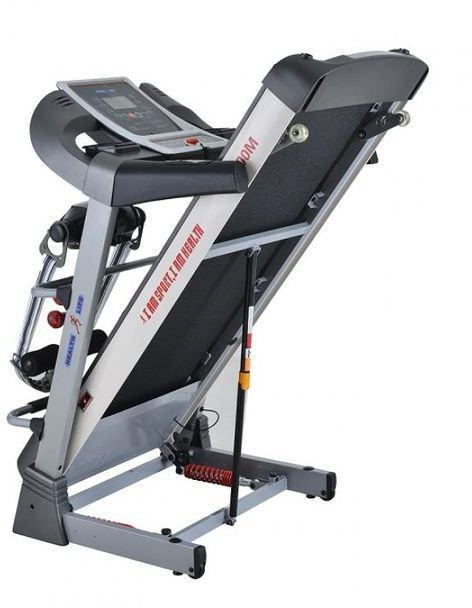 المشاية الرياضية الكهربائية Health Life V3500M Multi-function Motorized Treadmill With Personal Scale -130 Kg, 3.5 Horse Power, Black/ Grey  من سوق كوم مصر