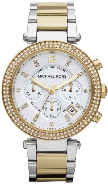bd1445ad9048 Michael Kors Parker Watch for Women - Analog Stainless Steel Band ...