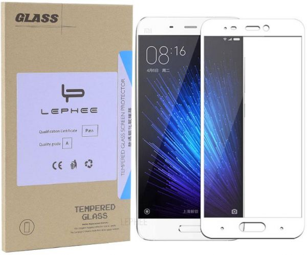 Xiaomi Mi 5 Mi5 Full Coverage Tempered Glass Screen Pro.