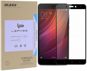 Xiaomi Redmi Note 4 Tempered Glass Screen Protector Full Coverage 0.3mm Ultra Thin 9H Hardness 2.5D Round Edge Screen Protector for Redmi Note 4 Black