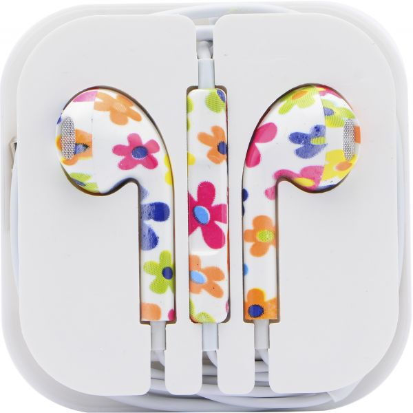 Headset Earphone In-Ear Headset With Remote & Mic For MP3, Iphone and  Samsung Smartphones - Colorful Pattern
