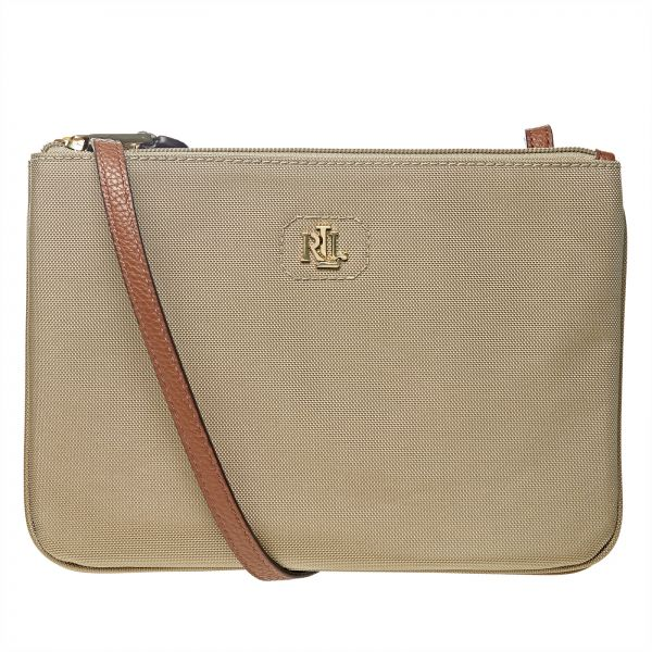 39d41df121e2 Lauren by Ralph Lauren Bainbridge Crossbody Bag for Women - Khaki ...
