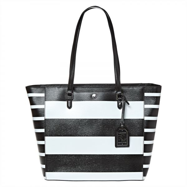 da33526bb4 Lauren by Ralph Lauren Newbury Halee Tote Bag for Women - Black ...