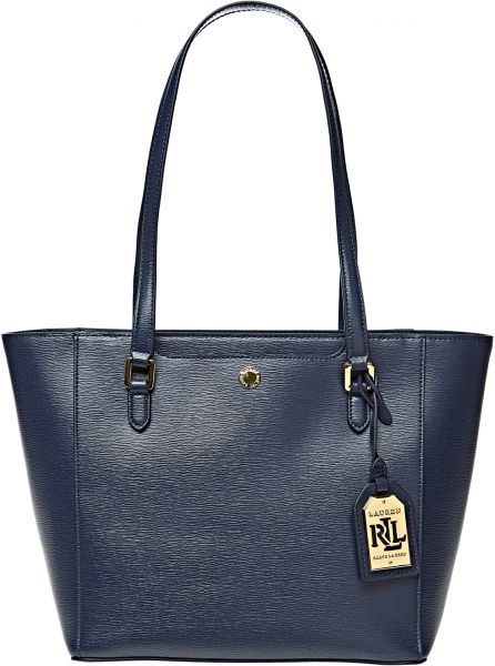 abd680cc732 Lauren by Ralph Lauren Newbury Halee II Tote Bag for Women - Navy ...