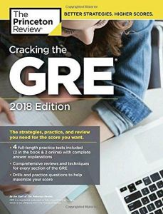 9e5f82f01bb Cracking the GRE with 4 Practice Tests (Graduate School Test Preparation)  2018 Edition Paperback