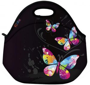 55852db78d3e Cute Three Butterflies Insulated Neoprene Lunch Bag Tote Handbag lunchbox  Food Container Gourmet Tote