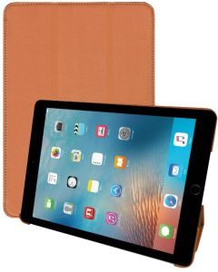 Apple iPad Air 2 9.7 Inch Tri Fold Stand Folio Smart Leather Case Cover - Brown