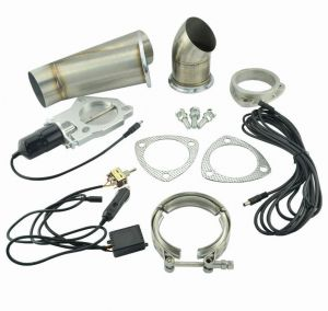 Stainless Steel Y-pipe+Electric Exhaust Cutout Kit For 3/'/' Piping Exhaust System