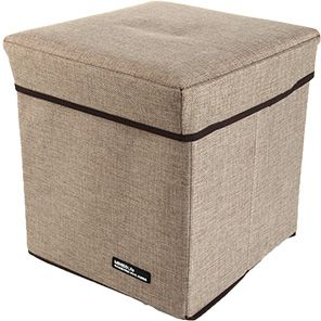 Minisosimple Linen Storage Box, Khaki