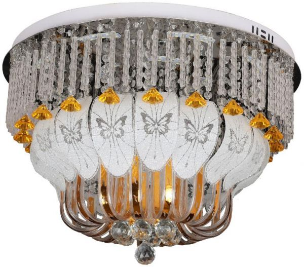 Modern round crystal chandeliers flush mount ceiling lamp led modern round crystal chandeliers flush mount ceiling lamp led hanging lights fixtures indoor lighting with multi color and bluetooth music player 8082 aloadofball Gallery