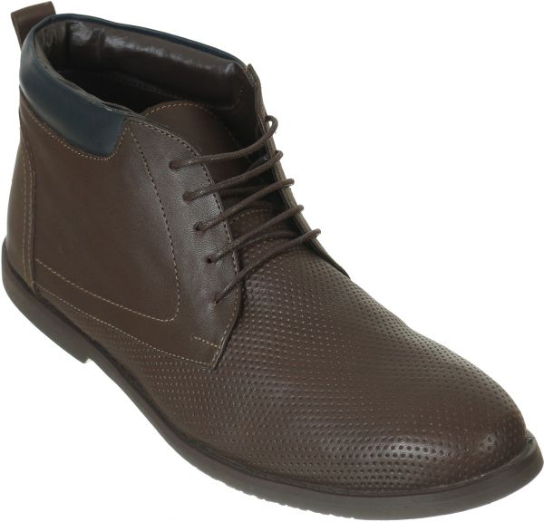 Roberto Cavalli Brown Lace Up Boot For Men