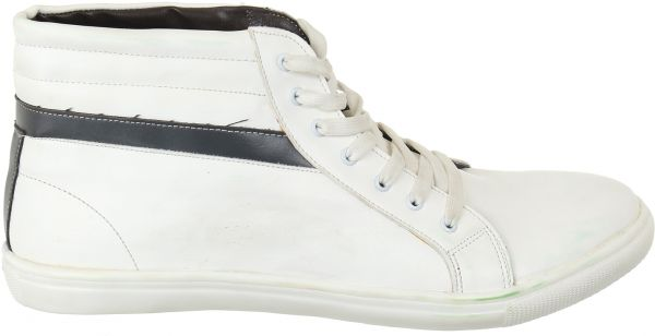 Marton White Lace Up Boot For Men