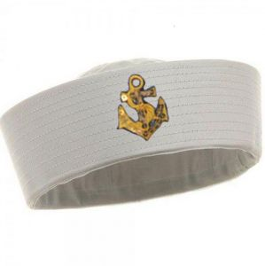 17cee78d6db4e Kids sailor navy boat costume hat cap with Gold anchor graphic patch