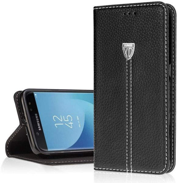 buy popular a1681 f6657 Samsung Galaxy J7 Pro Xundo Flip Leather Case Cover - Black