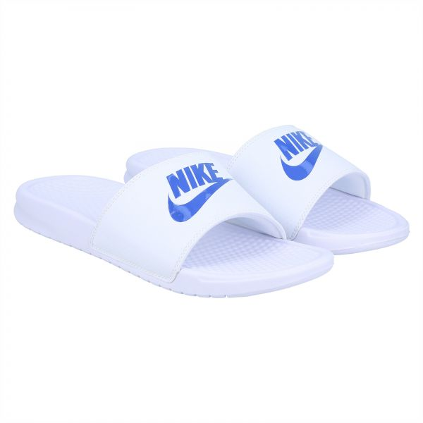 17f03db6da11eb Nike Benassi Swoosh Slides for Men - White Price in Saudi Arabia ...