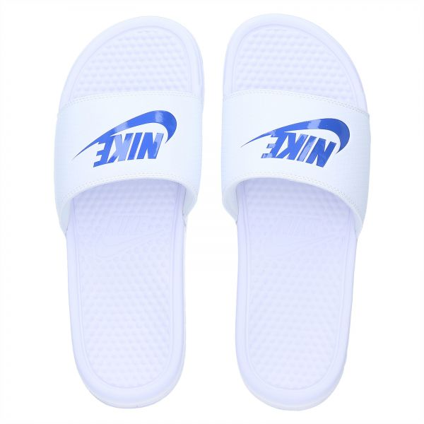 ef4fb2a336ad Nike Benassi Swoosh Slides for Men - White Price in Saudi Arabia ...