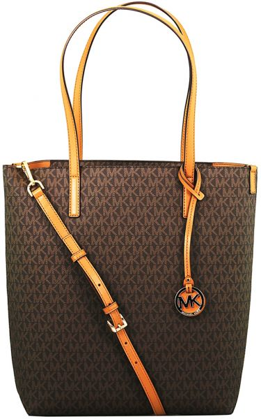 526eb2421c29 Michael Kors Large Hayley North South Tote Bag for Women - Leather ...
