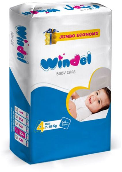 Windel Diapers, 64 pieces, size 4