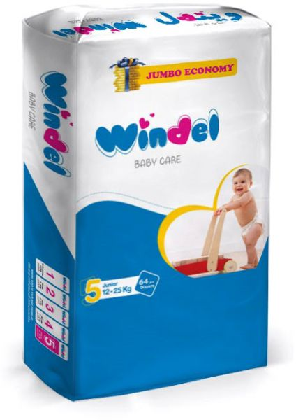 Windel Diapers, 64 pieces, size 5