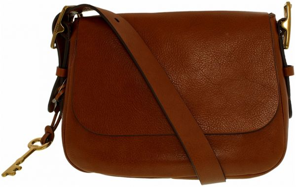 Fossil Small Harper Saddle Crossbody Bag for Women - Leather, Brown ... 953ee8b028