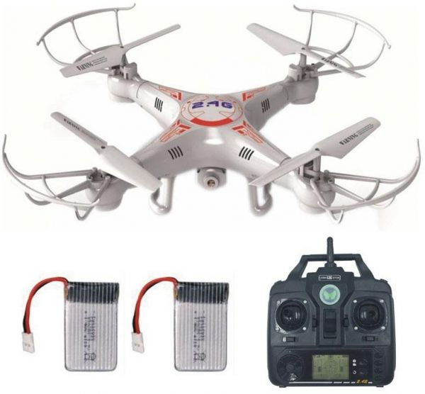 Quadcopter XSC 1 Camera Drone With Remote Control And Accessories White